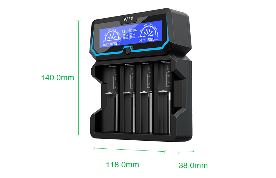 Xtar X4 4-slot Quick Charger with LCD Screen Tőltő